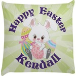 Easter Bunny Decorative Pillow Case (Personalized)