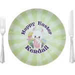 """Easter Bunny Glass Lunch / Dinner Plates 10"""" - Single or Set (Personalized)"""