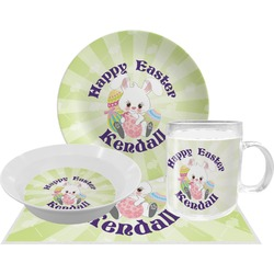 Easter Bunny Dinner Set - 4 Pc (Personalized)