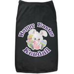 Easter Bunny Black Pet Shirt (Personalized)