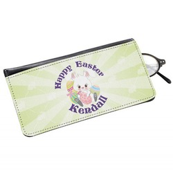 Easter Bunny Genuine Leather Eyeglass Case (Personalized)
