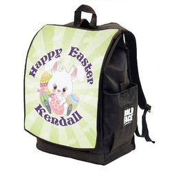 Easter Bunny Backpack w/ Front Flap  (Personalized)