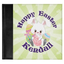 Easter Bunny Genuine Leather Baby Memory Book (Personalized)