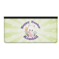 Easter Bunny Genuine Leather Checkbook Cover (Personalized)