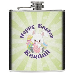 Easter Bunny Genuine Leather Flask (Personalized)