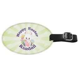 Easter Bunny Genuine Leather Luggage Tag (Personalized)