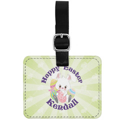 Easter Bunny Genuine Leather Luggage Tag w/ Name or Text