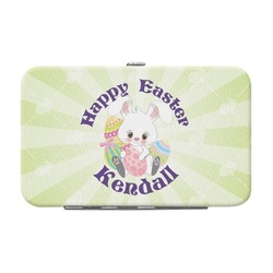 Easter Bunny Genuine Leather Small Framed Wallet (Personalized)