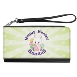 Easter Bunny Genuine Leather Smartphone Wrist Wallet (Personalized)