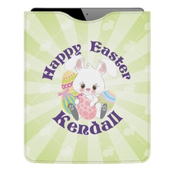 Easter Bunny Genuine Leather iPad Sleeve (Personalized)