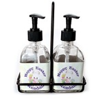 Easter Bunny Soap & Lotion Dispenser Set (Glass) (Personalized)