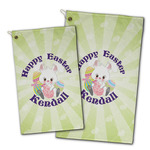 Easter Bunny Golf Towel - Full Print w/ Name or Text