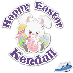 Easter Bunny Graphic Iron On Transfer (Personalized)