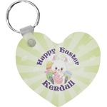 Easter Bunny Heart Keychain (Personalized)