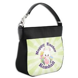 Easter Bunny Hobo Purse w/ Genuine Leather Trim (Personalized)