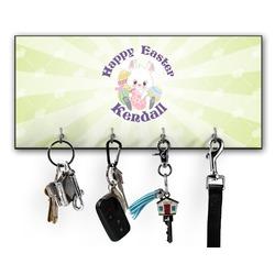 Easter Bunny Key Hanger w/ 4 Hooks (Personalized)