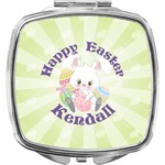 Easter Bunny Compact Makeup Mirror (Personalized)