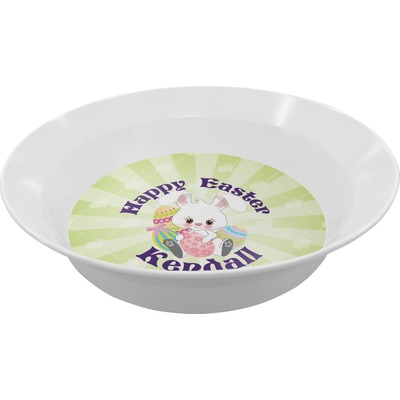 Easter Bunny Melamine Bowl (Personalized)