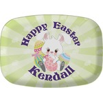 Easter Bunny Melamine Platter (Personalized)