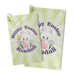 Easter Bunny Microfiber Golf Towel (Personalized)