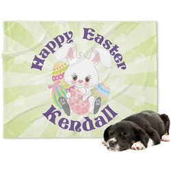 Easter Bunny Minky Dog Blanket (Personalized)