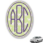 Easter Bunny Monogram Car Decal (Personalized)