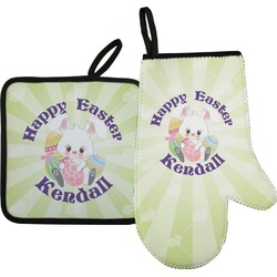 Easter Bunny Oven Mitt & Pot Holder (Personalized)
