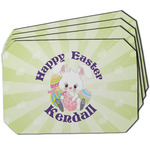 Easter Bunny Dining Table Mat - Octagon w/ Name or Text