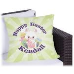 Easter Bunny Outdoor Pillow (Personalized)