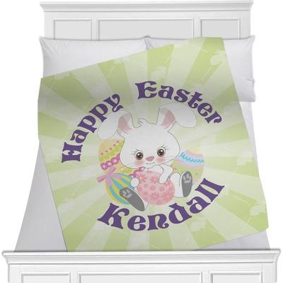 "Easter Bunny Fleece Blanket - 40""x30"" - Single Sided (Personalized)"