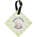 Easter Bunny Diamond Luggage Tag (Personalized)