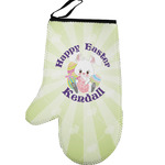 Easter Bunny Left Oven Mitt (Personalized)