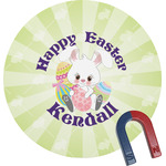 Easter Bunny Round Magnet (Personalized)