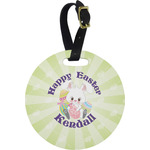 Easter Bunny Round Luggage Tag (Personalized)
