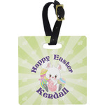 Easter Bunny Square Luggage Tag (Personalized)