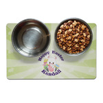 Easter Bunny Pet Bowl Mat (Personalized)