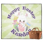 Easter Bunny Outdoor Picnic Blanket (Personalized)