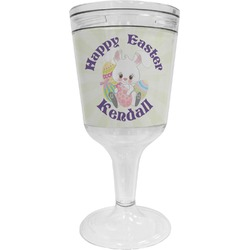 Easter Bunny Wine Tumbler - 11 oz Plastic (Personalized)