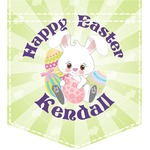 Easter Bunny Iron On Faux Pocket (Personalized)