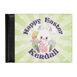 Easter Bunny Genuine Leather Guest Book (Personalized)