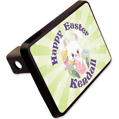 "Easter Bunny Rectangular Trailer Hitch Cover - 2"" (Personalized)"