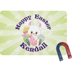 Easter Bunny Rectangular Fridge Magnet (Personalized)