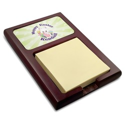 Easter Bunny Red Mahogany Sticky Note Holder (Personalized)
