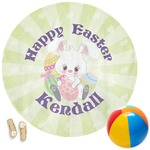 Easter Bunny Round Beach Towel (Personalized)