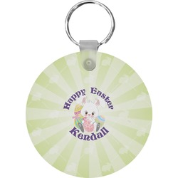 Easter Bunny Round Keychain (Personalized)