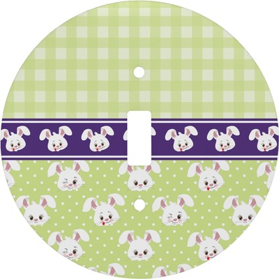 Easter Bunny Round Light Switch Cover (Personalized)