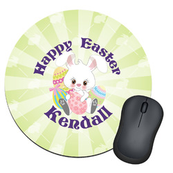 Easter Bunny Round Mouse Pad (Personalized)