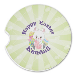 Easter Bunny Sandstone Car Coasters (Personalized)