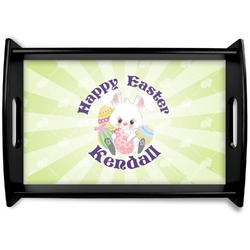 Easter Bunny Black Wooden Tray (Personalized)