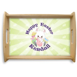 Easter Bunny Natural Wooden Tray (Personalized)